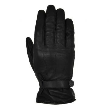 Oxford Holton Heritage Style Leather CE Motorcycle Motorbike Gloves Black